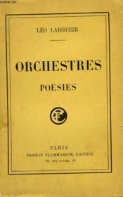 Orchestres. Poesies. - Couverture - Format classique