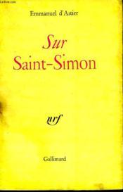 Sur Saint-Simon. - Couverture - Format classique