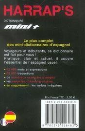 Dictionnaire mini-plus Harrap's ; espagnol-français / français-espagnol (édition 2005) - 4ème de couverture - Format classique