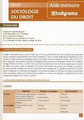 Sociologie du droit - Intérieur - Format classique