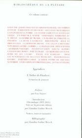Oeuvres de jeunesse ; oeuvres complètes t.1 - 4ème de couverture - Format classique