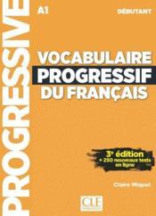 Vocabulaire progressif du français ; FLE ; A1 (3e édition) - Couverture - Format classique