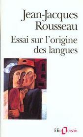 Essai sur l'origine des langues ou il est parle de la melodie et de l'imitation musicale - Intérieur - Format classique