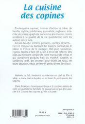 La cuisine des copines (nouvelle edition) - 4ème de couverture - Format classique