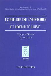 Ecriture de l'histoire et identite juive - Intérieur - Format classique