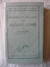 Méthode et intuition chez Auguste Comte - Couverture - Format classique