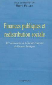 Finances Publiques Et Redistribution Sociale - Couverture - Format classique