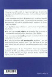 La Physique Au Baccalaureat Terminale S Exercices Corriges - 4ème de couverture - Format classique