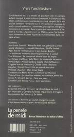 Revue La Pensee De Midi T.18 - 4ème de couverture - Format classique
