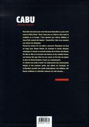 Cabu, reporter-dessinateur t.1 ; les années 70 - 4ème de couverture - Format classique