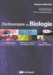 Dictionnaire de biologie - Intérieur - Format classique