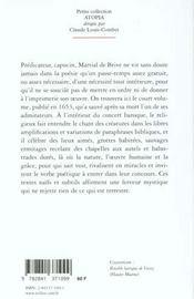 Oeuvres Poetiques Et Saintes - 1653 - 4ème de couverture - Format classique
