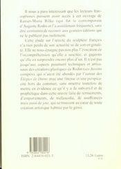 Auguste rodin - 4ème de couverture - Format classique