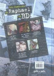 Les chansons de raphaël en bd - 4ème de couverture - Format classique