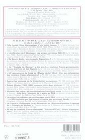 REVUE ALLEMAGNE D'AUJOURD'HUI T.173 ; lieux de mémoire dans les nouveaux lander allemands - 4ème de couverture - Format classique