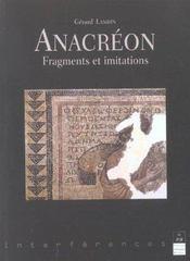 Anacreon fragments et imitations - Intérieur - Format classique