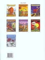 Chroniques De L'Apeuprehistoire - 4ème de couverture - Format classique