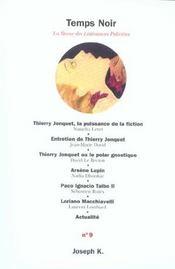Revue Temps Noir N.9 - Intérieur - Format classique