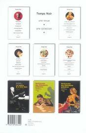 Revue Temps Noir N.9 - 4ème de couverture - Format classique