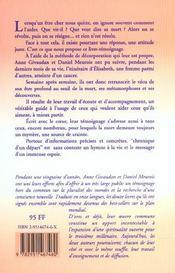 Chronique D'Un Depart - 4ème de couverture - Format classique