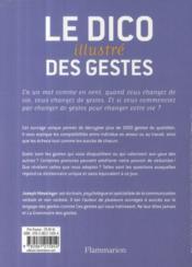 Le dico illustré des gestes ; plus de 1000 gestes et postures analysés - 4ème de couverture - Format classique