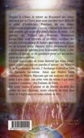 Terre de lumière ; le nouveau testament des maitres - 4ème de couverture - Format classique