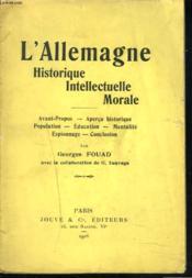 L'Allemagne Historique, Intellectuelle, Morale. - Couverture - Format classique