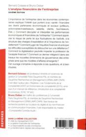 L'analyse financière de l'entreprise (6e édition) - 4ème de couverture - Format classique