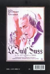 Juif suss et la propagande nazie - 4ème de couverture - Format classique