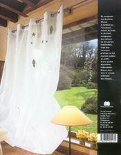 Rideaux, stores et cie - 4ème de couverture - Format classique