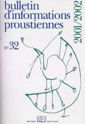 Bulletin D'Informations Proustiennes T.32 - Couverture - Format classique