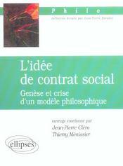 L'Idee De Contrat Social Genese Et Crise D'Un Modele Philosophique - Intérieur - Format classique