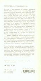 Léonard Bernstein - 4ème de couverture - Format classique