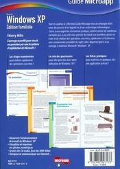 Windows Xp. Édition Familiale - 4ème de couverture - Format classique
