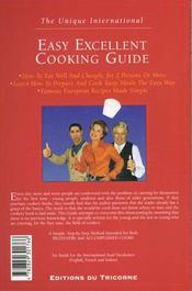Easy Excellent Cooking Guide - 4ème de couverture - Format classique