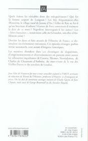 Etranges histoires de l'histoire de france - 4ème de couverture - Format classique