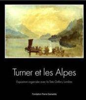 Turner et les alpes/broche francais-anglais - Couverture - Format classique