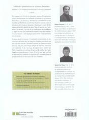 Methodes quantitatives en sciences humaines v2 (2e ed) - 4ème de couverture - Format classique