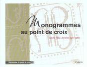 Monogrammes Au Point De Croix - Intérieur - Format classique