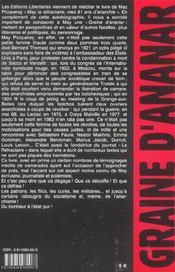 May Picqueray - 4ème de couverture - Format classique
