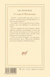 Le songe de Monomotapa - 4ème de couverture - Format classique