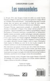 Les somnambules ; été 1914 : comment l'Europe a marché vers la guerre - 4ème de couverture - Format classique