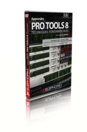 Apprendre pro tools 8 ; techniques fondamentales ; formation apro tools 8 de digidesign ; formation vidéo - Couverture - Format classique