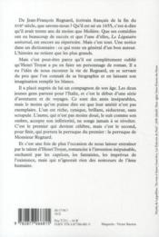 La perruque de Monsieur Régnard - 4ème de couverture - Format classique