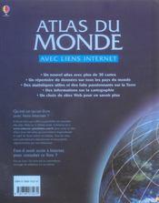 Atlas du monde avec liens internet - 4ème de couverture - Format classique