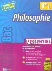 Philosophie ; terminale L - Intérieur - Format classique