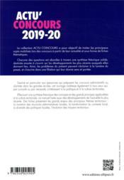 Actu'concours ; culture territoriale ; cours et QCM (édition 2019/2020) - 4ème de couverture - Format classique