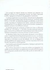 La France Sujets Corriges De Geographie Capes/Agregation - 4ème de couverture - Format classique