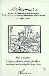 Jurer Et Maudire : Pratiques Politiques Et Usages Juri - Couverture - Format classique