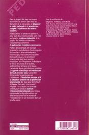 La profession d'enseignant aujourd'hui ; évolutions, perspectives et enjeux internationaux - 4ème de couverture - Format classique